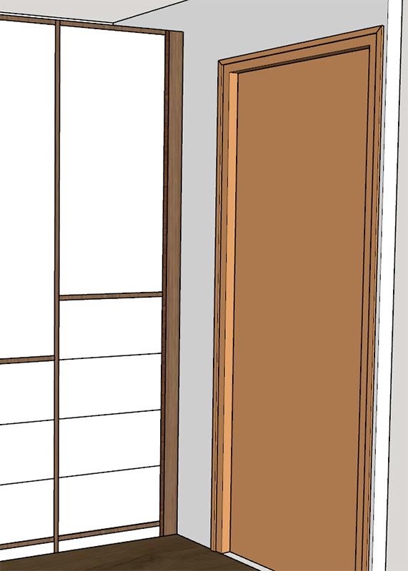 Meuble placard dans un couloir. [1. Conception] Meuble_Couloir-004